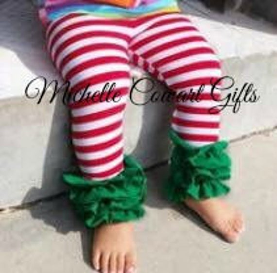 4bc16628b Christmas Icings Red Stripe Green Ruffle Toddler Icings