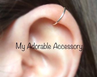 Fake Cartilage Piercing, Ear Cuff, Fake Piercing, Cartilage Ear Cuff