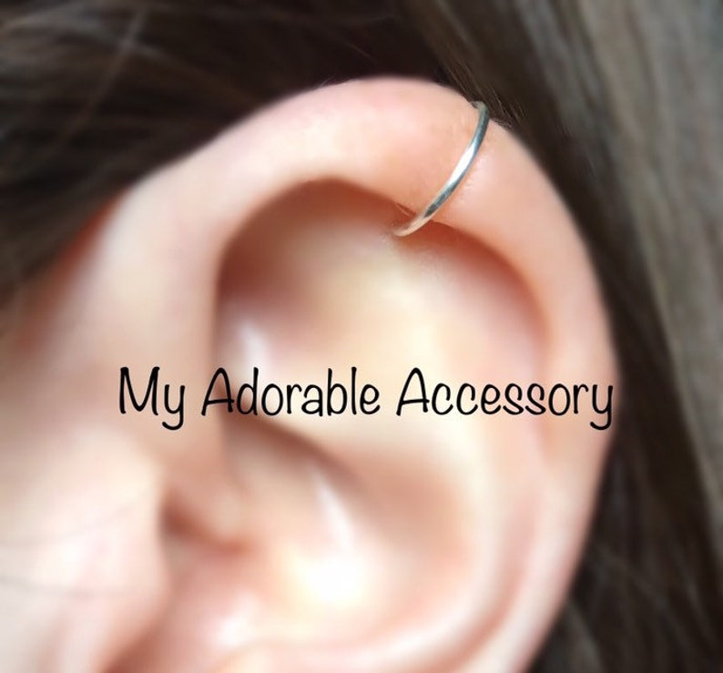 Fake Cartilage Piercing Ear Cuff Fake Piercing Cartilage Ear Cuff