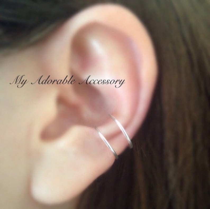 Double Large Hoop Conch Cuff Ear Cuff Fake Conch Piercing