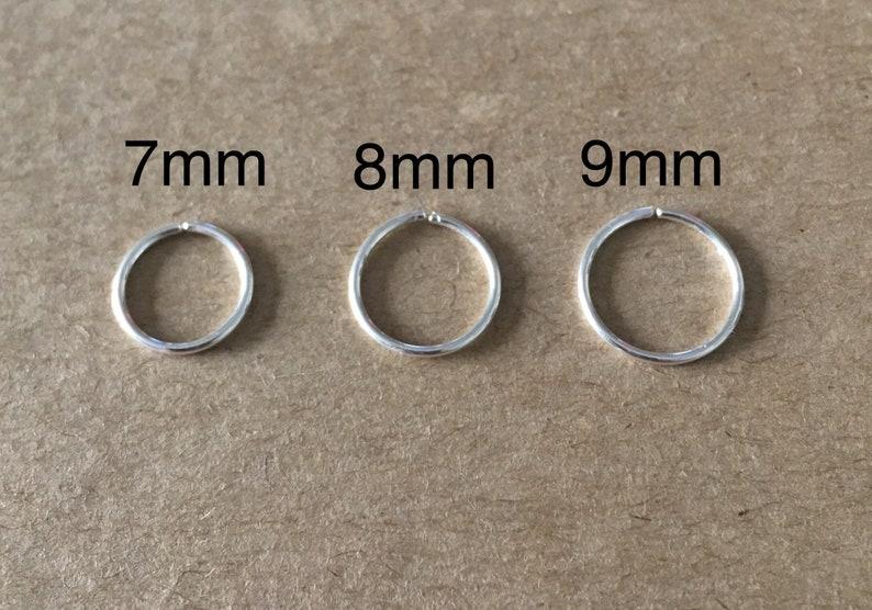 Lip Ring Septum Ring Sleeper Piercing Endless Ring Tragus Ring Cartilage Ring Set of Three Nose Ring Nose Ring
