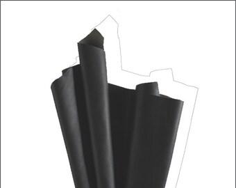 V261-P-skin side of leather COWHIDE leather (Xl) deep black.