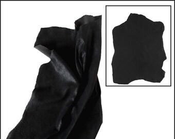 A735-M / / skin STHRETCH Anthracite black NUBUCK leather.