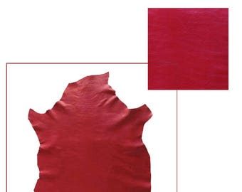 S A405-skin leather of lamb CRISPE red NAPPA.