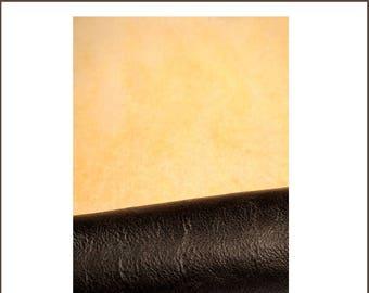 A461-M-lamb skin leather BOMBER dark brown wool.