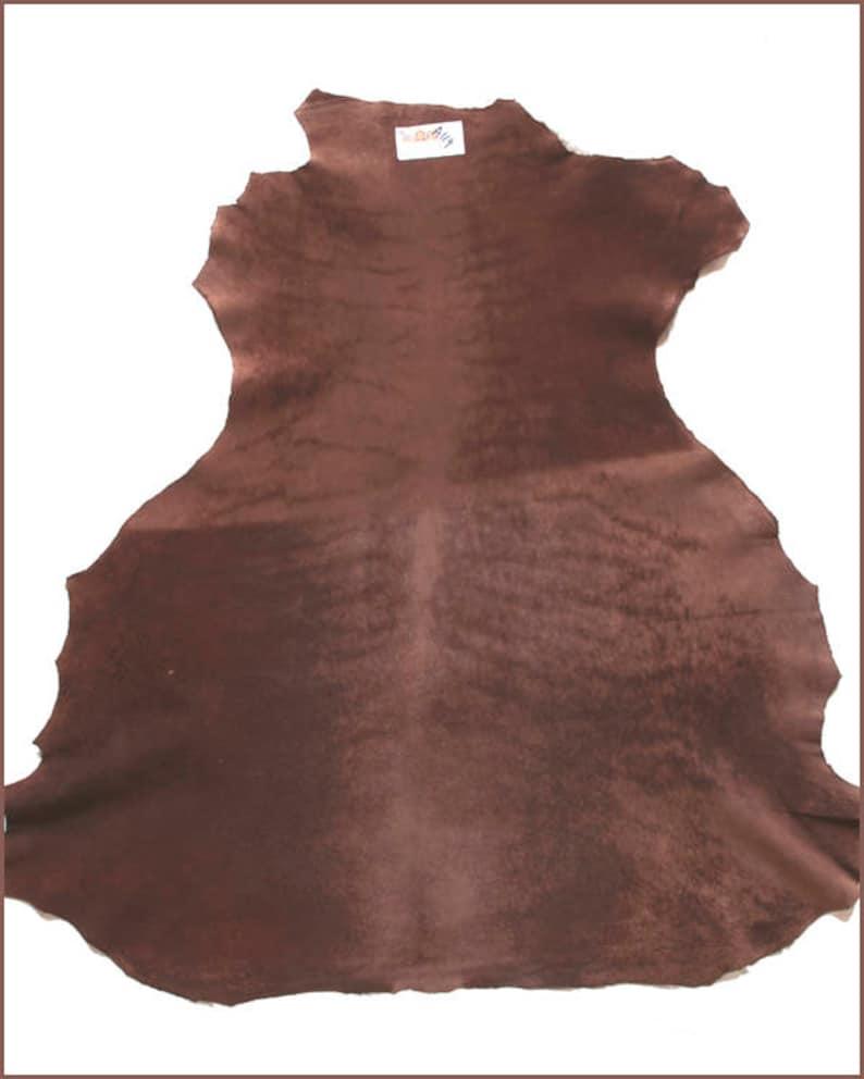 A119-P-skin soft chocolate brown NUBUCK leather.
