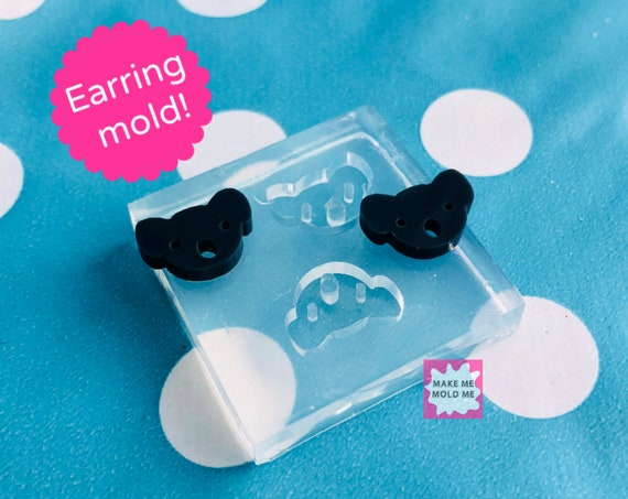 Silicone Earrings Koala Mold Resin EM322