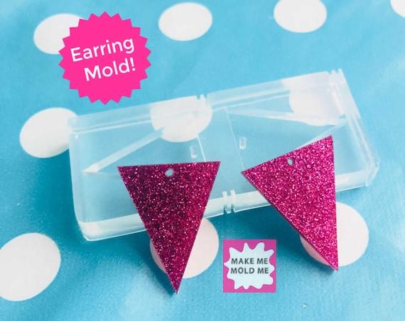28mm Silicone Dangle Earring Triangle Shape Mold EM280