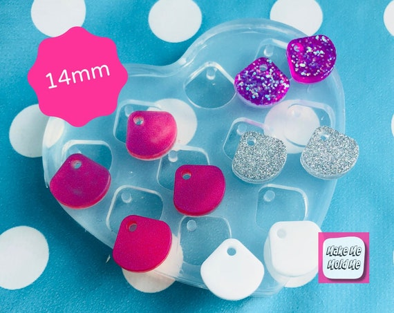 Silicone Earring 14mm Scallop Earring Top Mold EM345