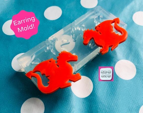 25mm Dragon Earring Silicone Dangle Earring Mold EM378