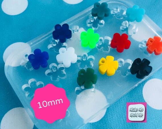 14 in 1 Silicone Earring 10mm Mini Flower Charm Mold - Resin Jewellery EM349