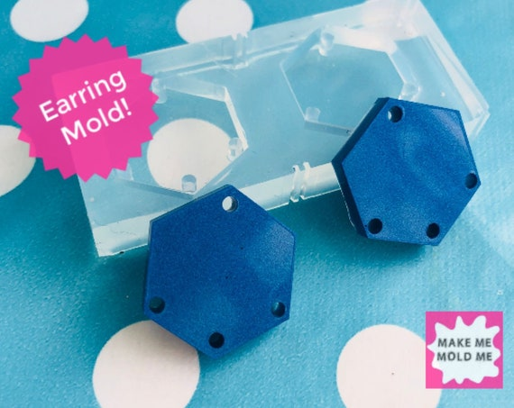 20mm Silicone Hexagon Earring Mold EM283