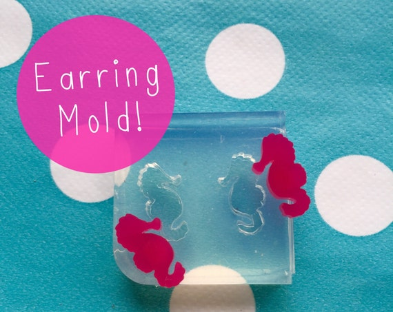 Silicone Earring Seahorse Stud Mold  EM73