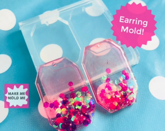 40mm Silicone Earring Mold Flat Octagon Link EM271