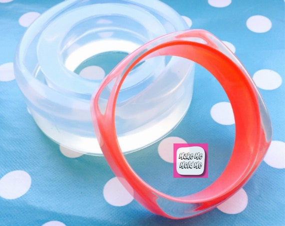 Square Resin Bangle Bracelet Silicone Mold BM02
