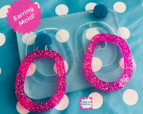 60mm XL Loop Dangle Silicone Earring Mold EM299