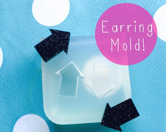 Silicone Earring Arrow Stud Mold  - Earrings Resin Crafter Mould EM115