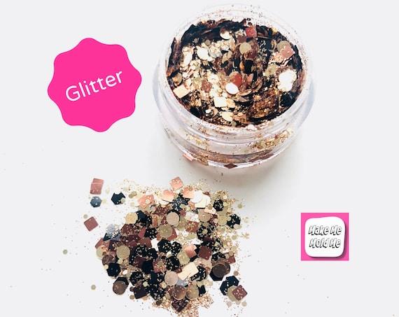 Amazing  Black and Gold Mix Glitter MM23