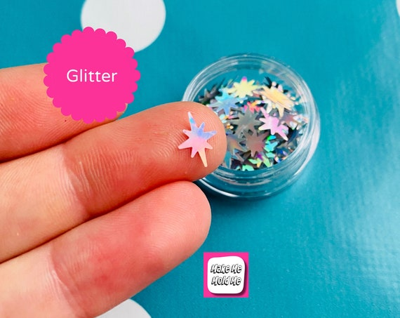 Amazing 6 Point Star Glitter Holographic MM99