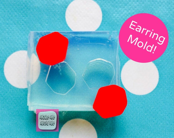 Silicone Earrings Rock Mold Resin EM156
