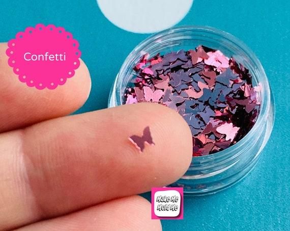 Rose Gold Butterfly Shape Confetti Glitter MM105