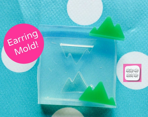 12MM Silicone Earring Mountain Stud Mold  - EM154