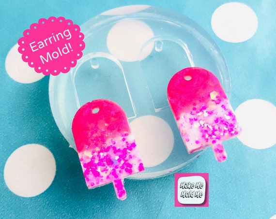 25mm Silicone Ice Lolly  Dangle Earring Mold  - EM457