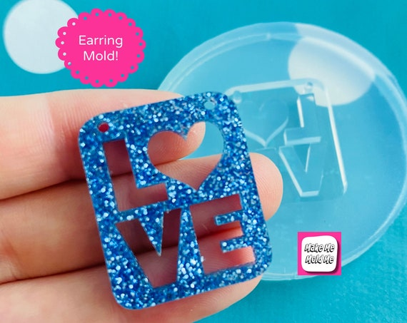 30mm Love Word Silicone Pendant Mold - Resin Crafter NM08
