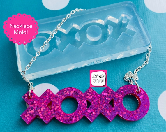 XOXO Gossip Girl Necklace Silicone Mold - Resin Mould NM06