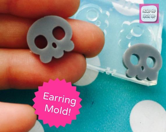 Skull Stud Earring Mold EM199