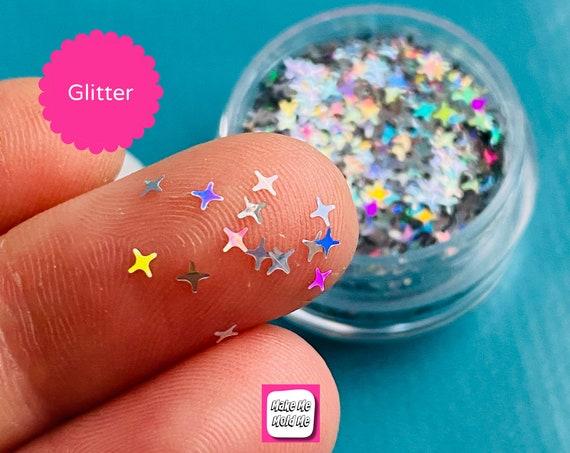 Amazing 4 Point Silver Star Shape Glitter Confetti MM101