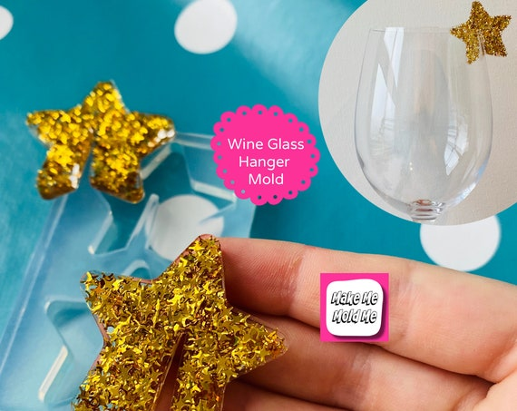40mm Silicone StarWine Hanger Mold    - Resin Hair Accessories GM115
