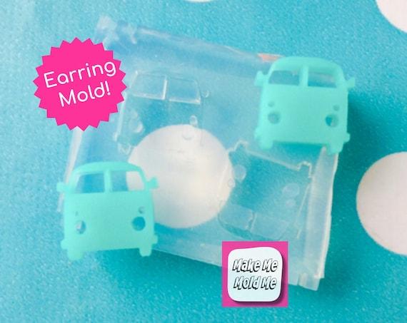 12mm Camper Van Earring Mold EM164
