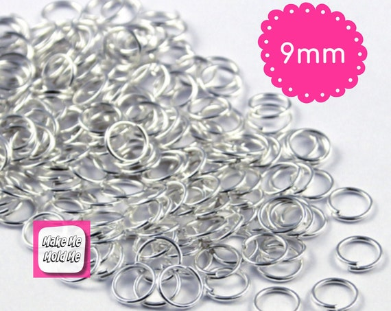 9mm x 50 Silver Plated Jump Rings Jewellery Findings MM42