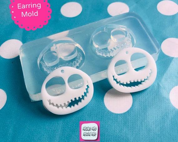 25mm Silicone Earring Jack Skull Dangle Mold   EM502