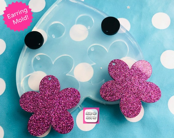 40mm XL Flower Silicone Dangle Earring Mold  EM404