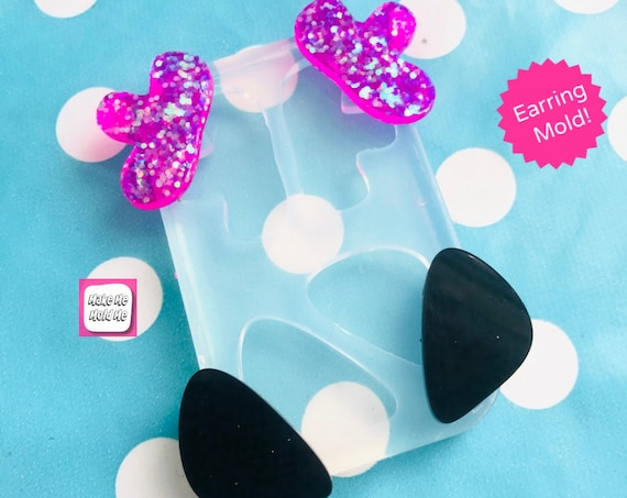 Organic Duo Silicone Stud Earring Mold - EM407