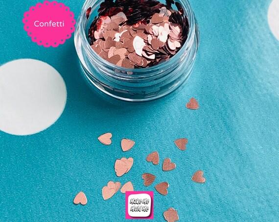 Rose Gold Heart Shaped Glitter Foil Confetti MM108
