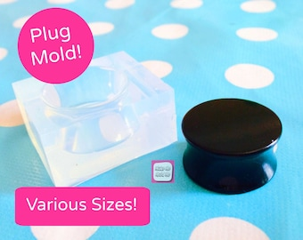 Silicone Ear Tunnel Plug Mold  - 6mm 8mm 10mm  11mm  20mm 30mm 40mm  50mm Earrings Resin Crafter Mould  Shape Saddle Gauge T