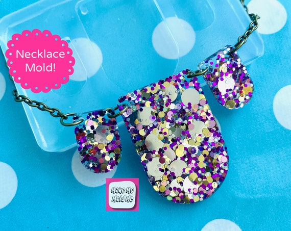 Bib Link Style  Necklace Silicone Mold - Resin Mould PM57