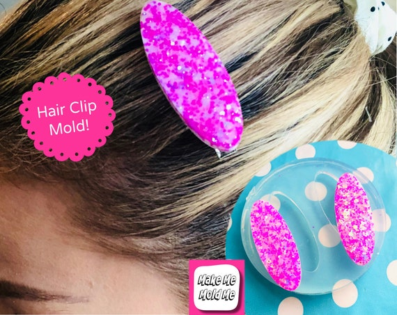B- GRADE MOLD 40% Off! 60mm Silicone Hair Clip Slide Barrette Mold  SS20