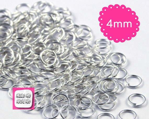50 x Silver Plated 4mm Jump Rings Jewellery Findings MM61