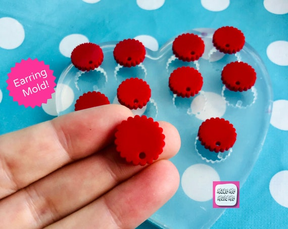 15mm 10 x Cookie Cutter Silicone Earring Mold EM409