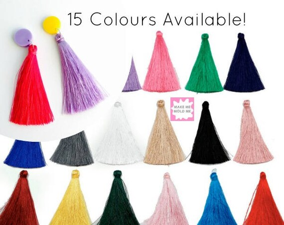 1 Pair of Silk Tassels 65mm MM01
