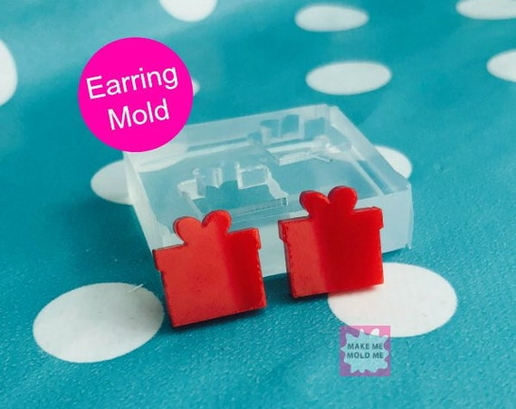 12mm Silicone Stud Present Gift Earring Mold EM50