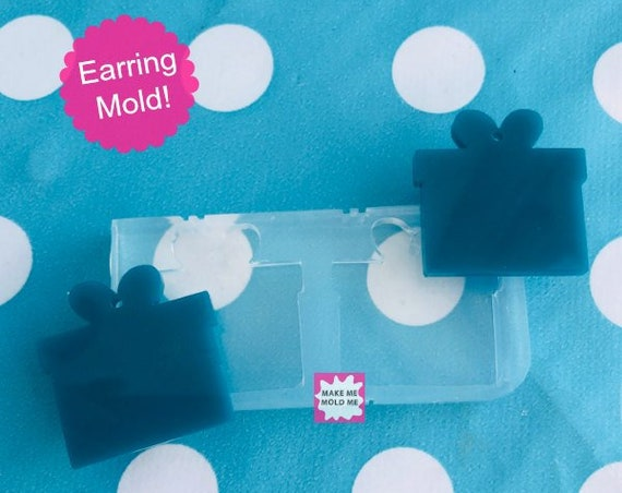 25mm Silicone Dangle Earring Mold Christmas Present Gift  EM38