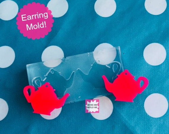 Silicone Mold Teapot Earring Mould EM33