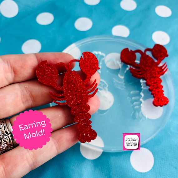 65mm Silicone Lobster Earring Mold Resin EM495