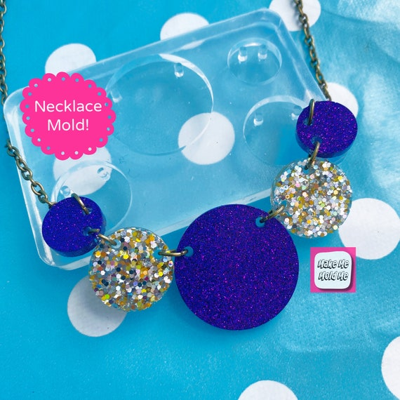Circle Link Style  Necklace Silicone Mold PM58