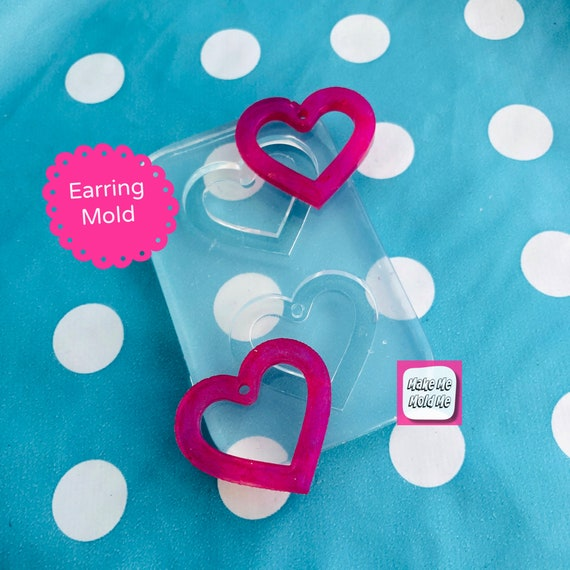 30mm Silicone Heart Dangle  Mold  EM475